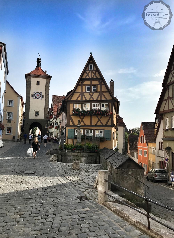 Rothenburg Ob Der Tauber, na Rota Romântica da Alemanha - Plönlein