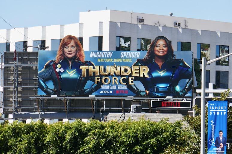 Thunder Force Netflix film billboard