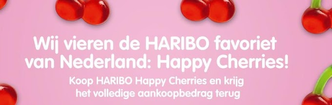 Gratis Happy Cherries (Snoepjes van Haribo)