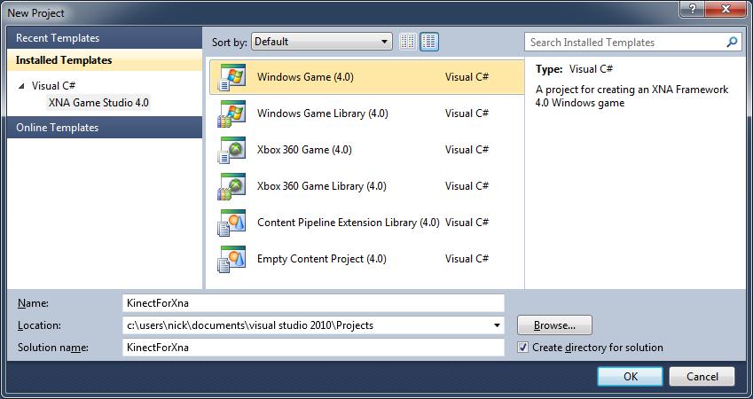 Kinect Visual Studio