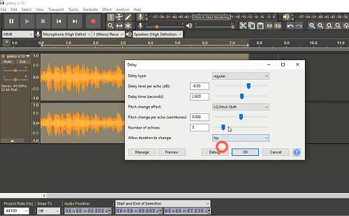 دورة شرح Audacity تعلم المؤثرات الصوتية شرح Echo Effect و Delay Effect