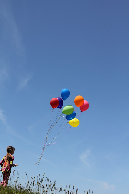 Sending Birthday Balloons To Heaven