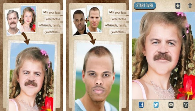 تطبيق تغيير الوجه