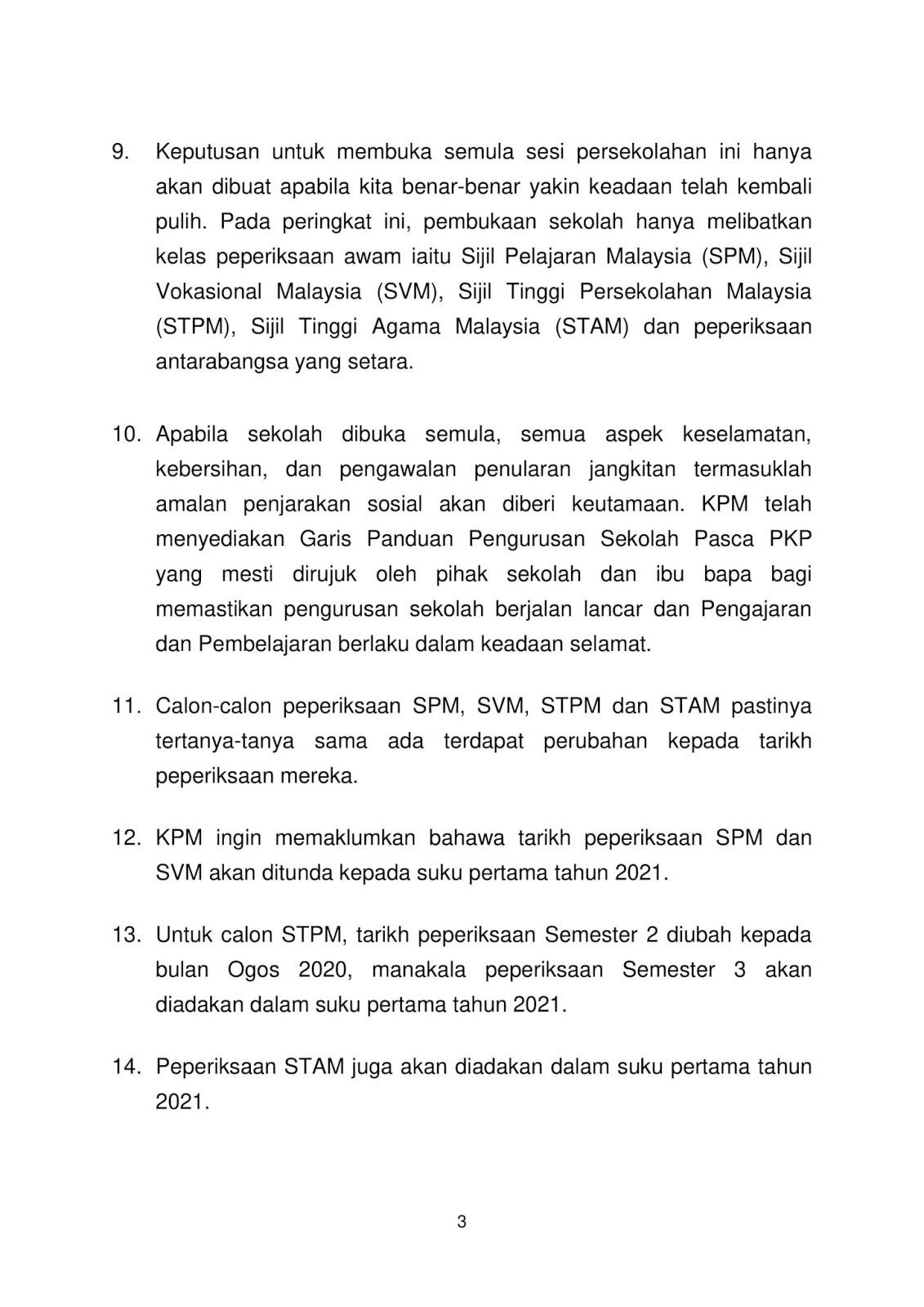 V7 TEKS%2BUCAPAN%2BPELAN%2BTINDAKAN%2BPERSEKOLAHAN%2BPASCA%2BPKP 3 - COVID-19: UPSR, PT3 dibatalkan, SPM, STPM ditunda ke 2021