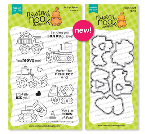 Love Quarry Stamp Set and coordinating Die Set by Newton's Nook Designs #newtonsnook