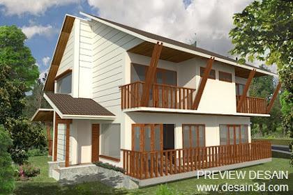 Jasa Desain Villa Kayu Lokasi Pedesaan Pegunungan