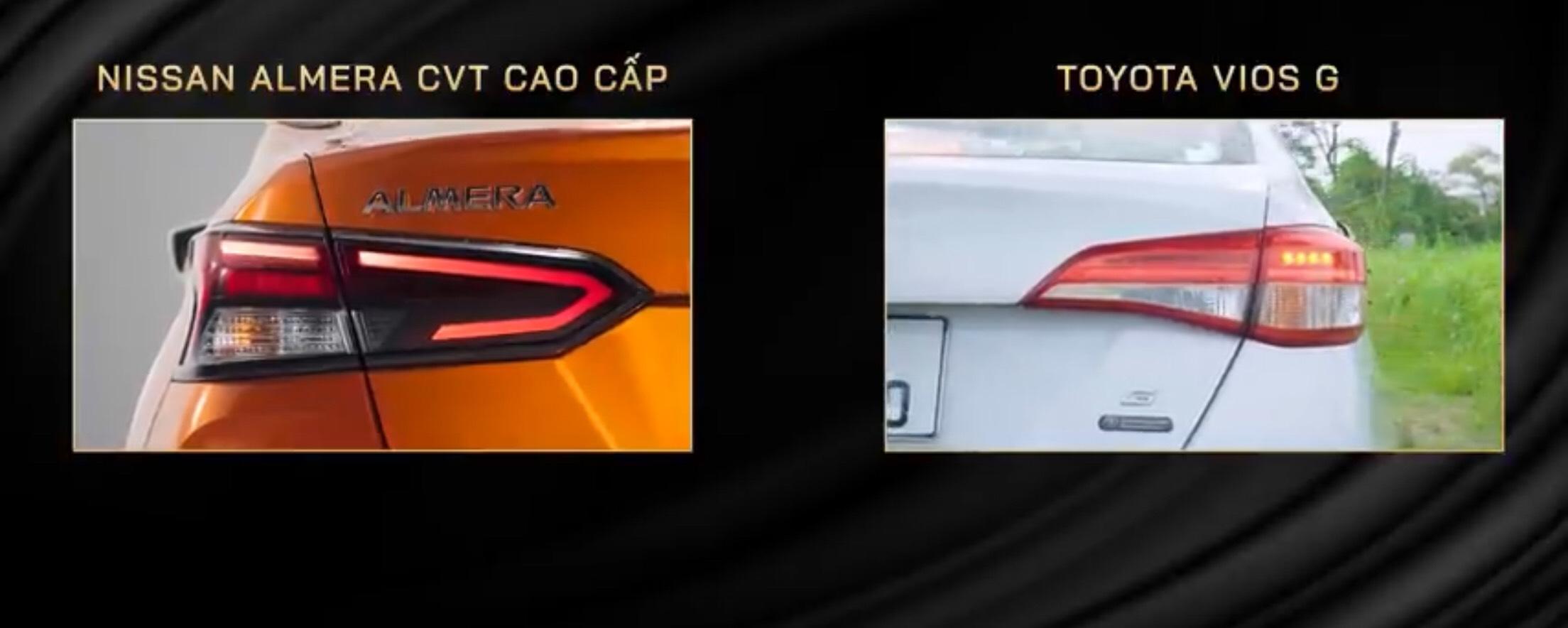 So sánh Toyota Vios và Nissan Almera 2021 về giá bán, trang bị tiện ích. 11
