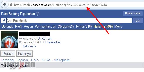 cara mengetahui id facebook orang lain