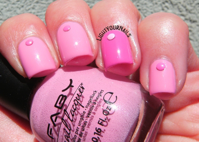 Pink manicure with Faby nail polish
