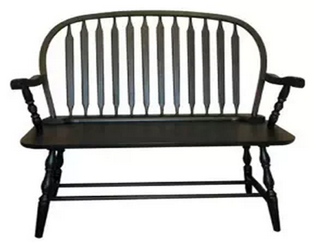 Carolina Cottage Colonial Windsor Bench, Outdoor Benches, Outdoor Furniture, Patio Furniture, Metal Outdoor Benches, Wooden Outdoor Benches,