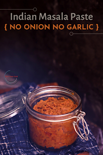 Basic Sattvic Masala Paste | No Onion & Garlic Masala Paste