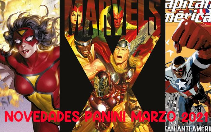 Novedades Panini Comics para marzo 2021
