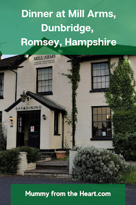 Review of our meal at Mill Arms, Dunbridge, Romsey, Hampshire. We'd recommend and would eat there again.