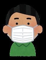 マスクを付けた人のイラスト(東南アジア人男性)