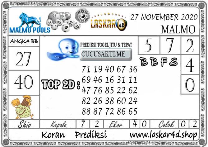 Prediksi Togel MALMO LASKAR4D 27 NOVEMBER 2020