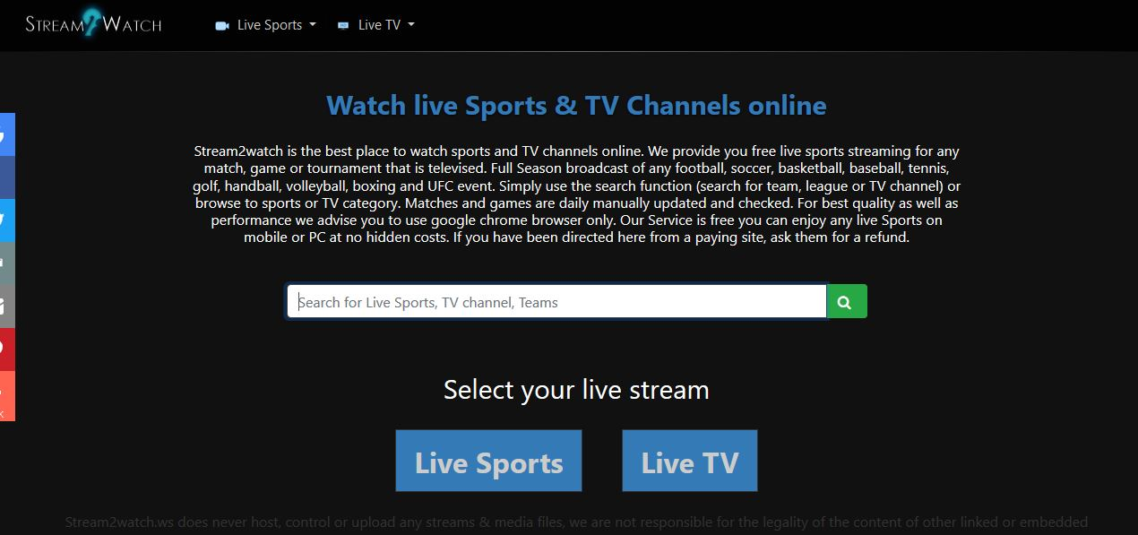 Stream2Watch: Top 10 Sports Streaming Alternatives