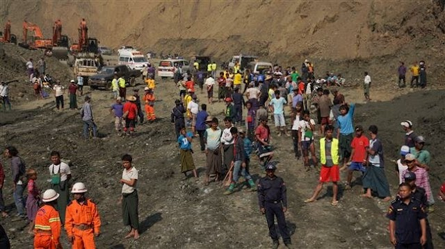 Over 50 believed dead in collapse at Myanmar jade mine