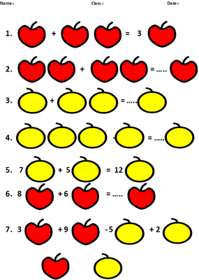 algebra worksheet for primary