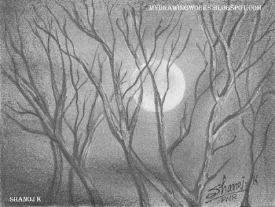 Night - Pencil Drawing || RAINBOW - The Colour of Life
