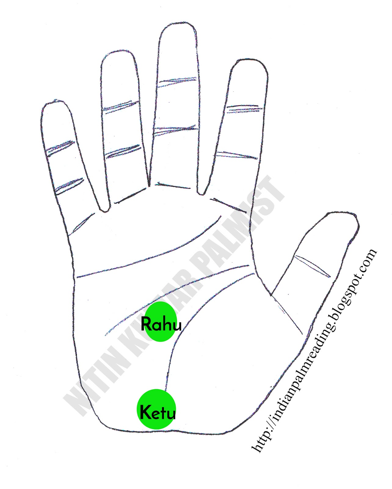 Position Of Rahu And Ketu In Palm - Indian Palmistry | INDIAN PALM