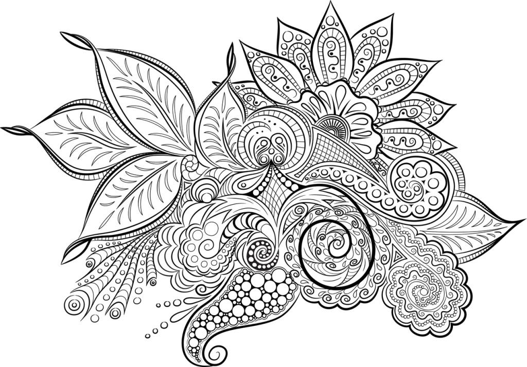 kolorowanki antystresowe do druku kwiaty