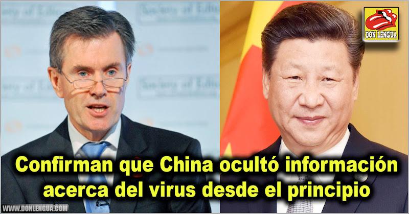 Confirman que China ocultó información acerca del virus desde el principio