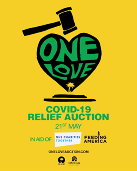 One Love Covid-19 Relief Auction in support of NHS Charities Together & Feeding America. Hosted by Billy Porter 21st May