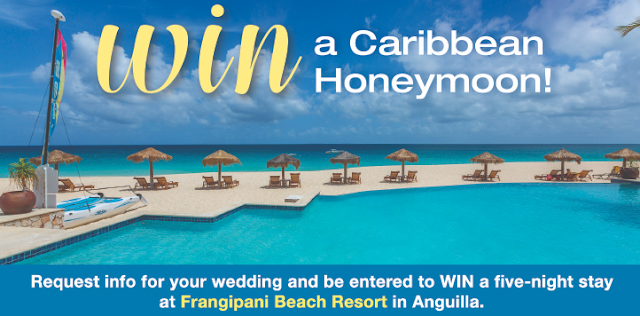 Bridal Guide is giving away a FIVE night stay at Frangipani Beach Resort in Anguilla! Enter once for your chance to win a totally dreamy honeymoon!