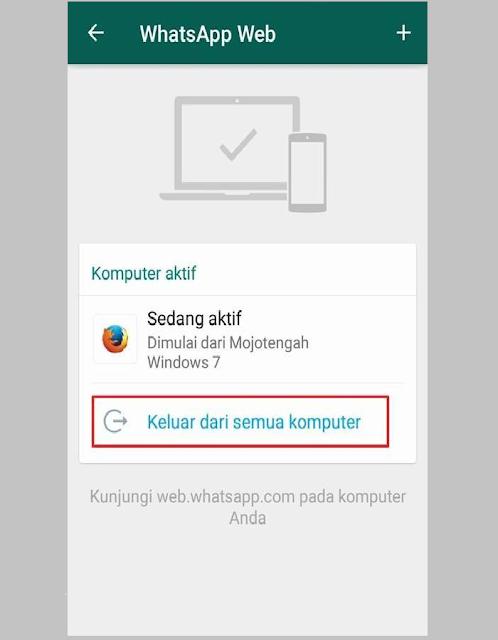 Pesan WhatsApp Tidak Masuk Karena WA Web Aktif