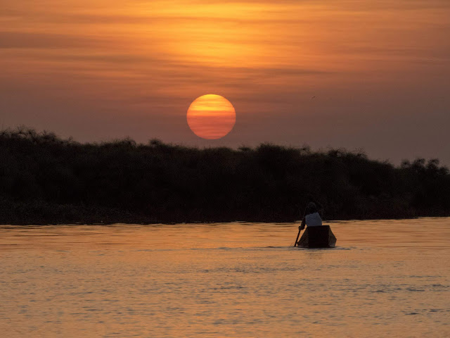 Sunset over Lake Victoria in Entebbe, Uganda