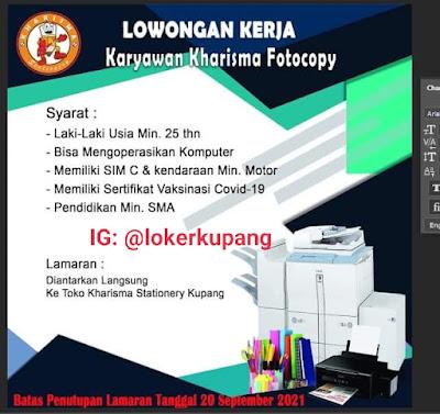 Lowongan Kerja Kharisma Stationery Kupang Sebagai Karyawan Kharisma Fotocopy
