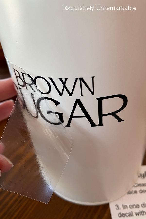 Brown Sugar Label Application
