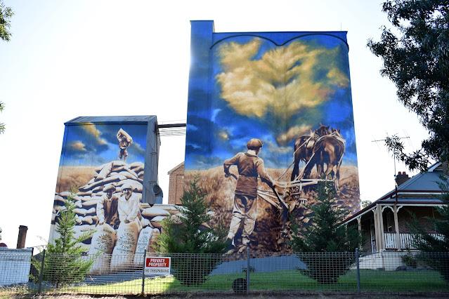 New Silo Mural by Heesco in Murrumburrah (Harden)