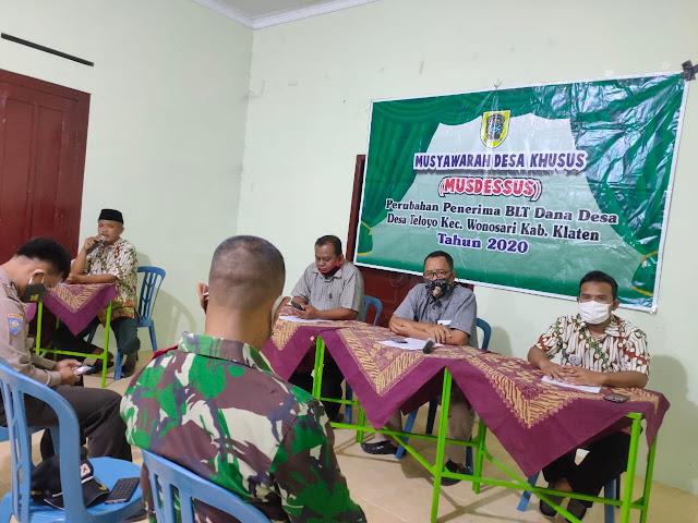 Babinsa Koramil 22 Wonosari Hadiri Musyawarah Desa Khusus