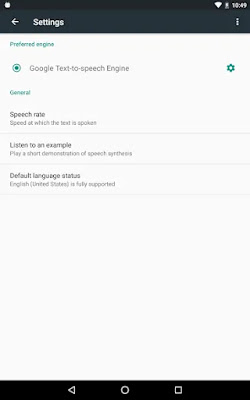 Google Text-to-Speech interface