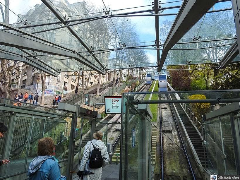 Funicular para subir até a Sacre Coeur - Diário de Bordo - 3 dias em Paris