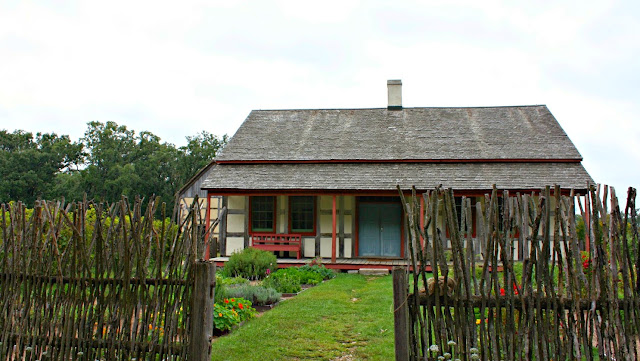 Living pioneer farm at Old World Wisconsin.