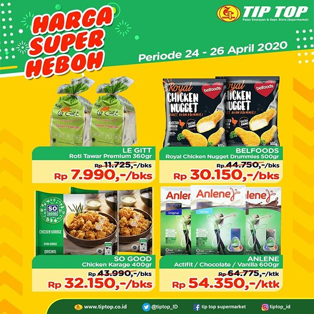 #TipTop - #Promo #Katalog JSM Harga Super Heboh Periode 24 - 26 April 2020