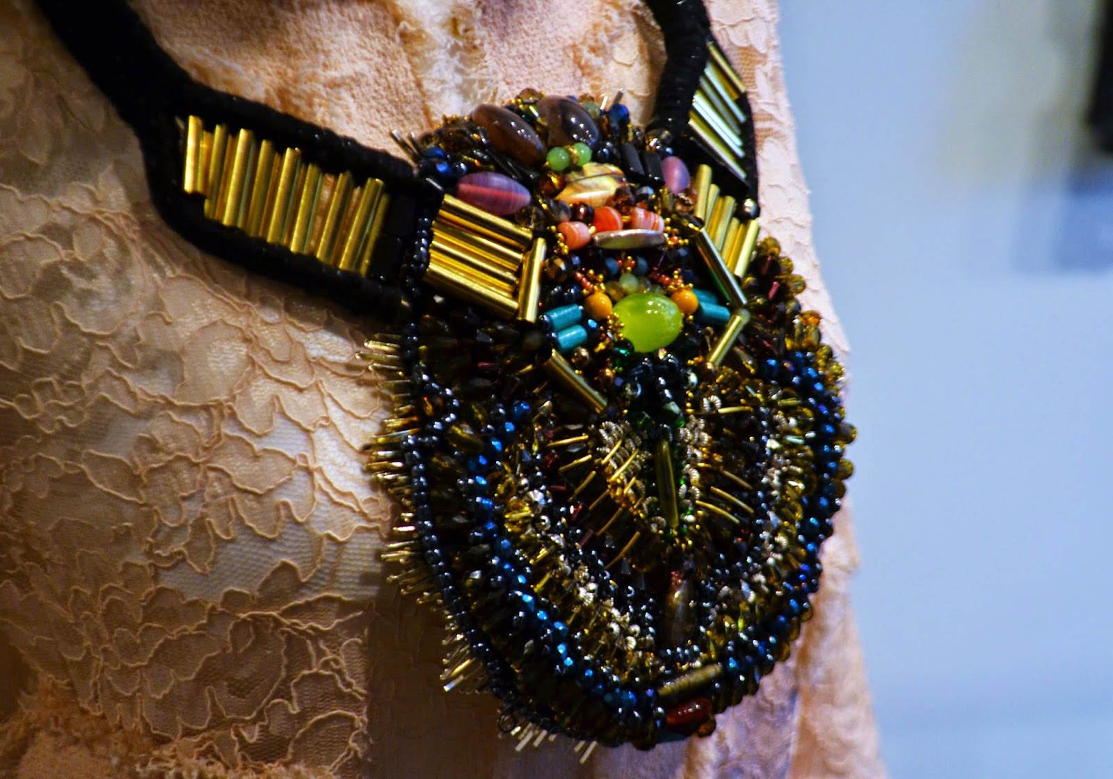 another intricate necklace with hundreds of beads