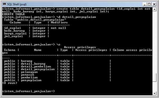 Kelas Informatika - Membuat tabel Detail Penyuplaian