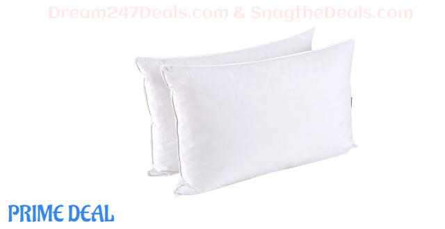 35% OFF  puredown Down Feather Pillows For Sleeping, Queen, Duck Down