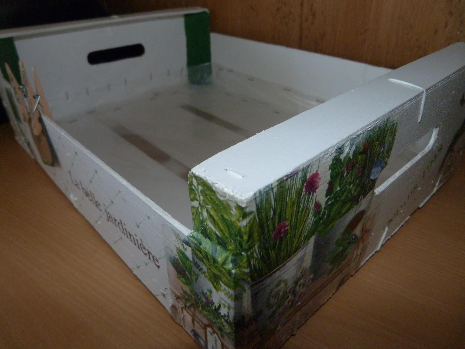 Caja de fruta para macetas Isabel Vintage