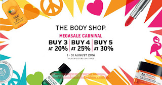 The Body Shop Malaysia Megasale Carnival