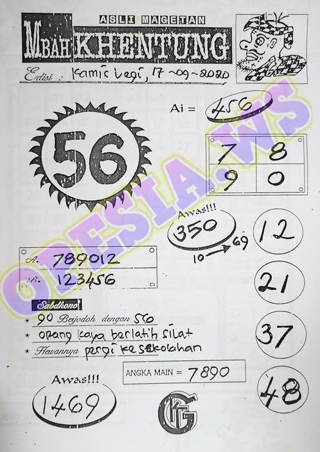 Kode syair Singapore Kamis 17 September 2020 66