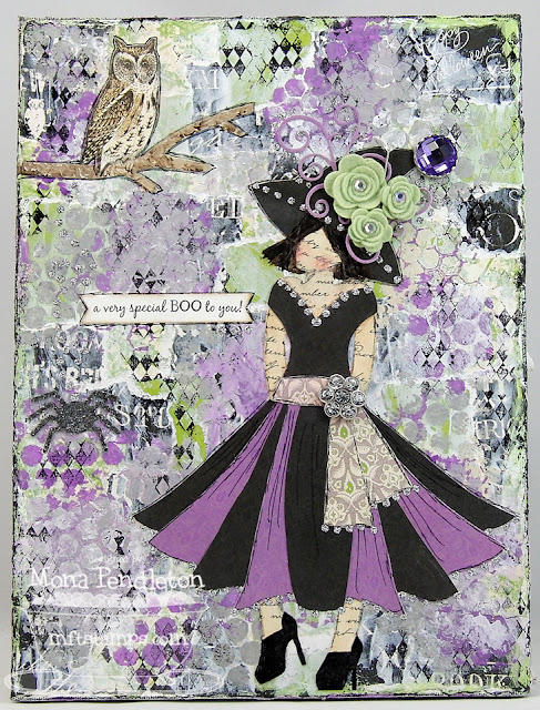 A Fancy Mixed Media Witch Cupcake S Creations