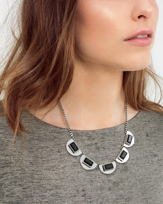 Jet Stone Short Necklace $15 (reg $55)