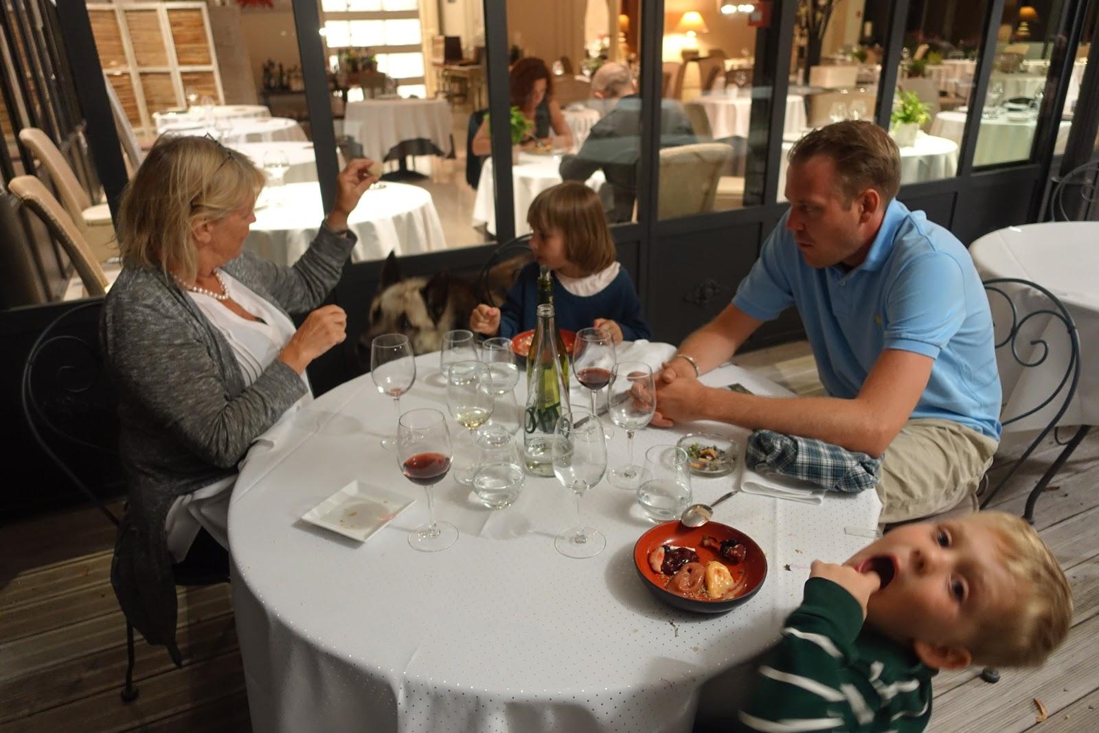 schiller-wine: Dinner at Restaurant Château de la Dame Blanche in ...