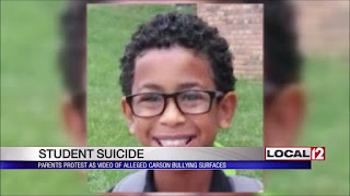 Child suicide because of bullying