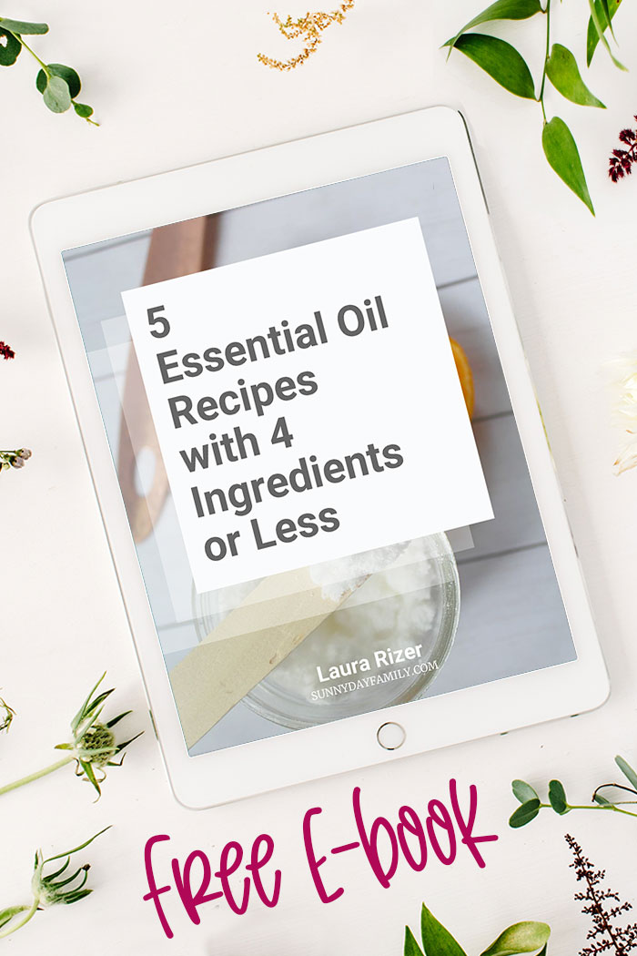 Easy essential oils recipes you can do! Grab this FREE ebook with 5 essential oil DIY projects with 4 ingredients or less. This is an awesome resource for essential oil newbies or anyone looking to add essential oils to their homes. Including natural cleaning products, DIY cleaning products, and DIY bath and body. #essentialoils #DIY #naturalcleaning #naturalhome #cleaning