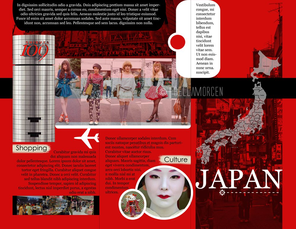 Resume Japan Travel Brochure